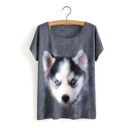 Husky Pup Ladies T-Shirt