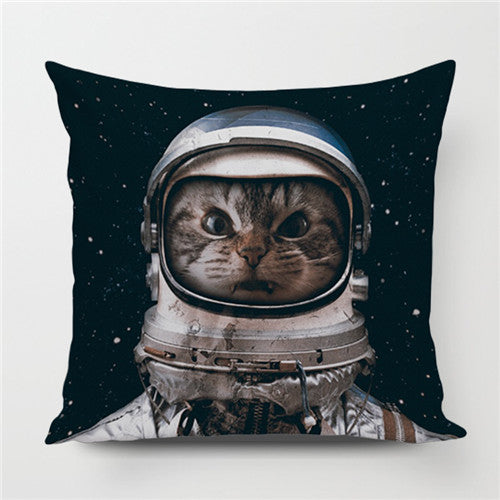 Astro Cat Throw Pillow Cover