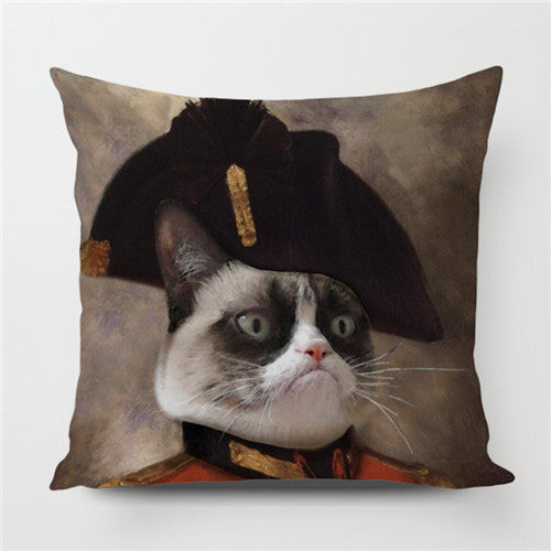 Grumpy Cat in Costume Pillow