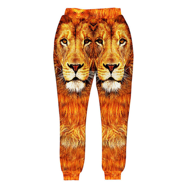 Double Lion Face Sweatpants