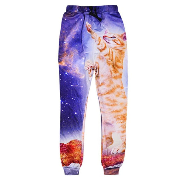 Bacon Surfing Cat Sweatpants
