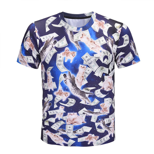 Galactic Kitty Money T-Shirt
