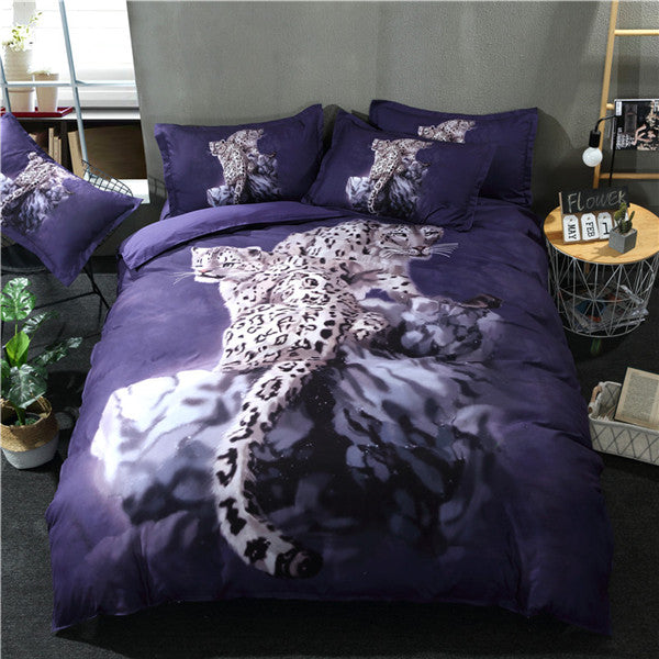 Cheetah Pair Bedding Set