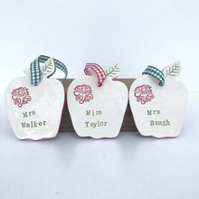 Personalised Ceramic Teachers Apple - Fabaclay