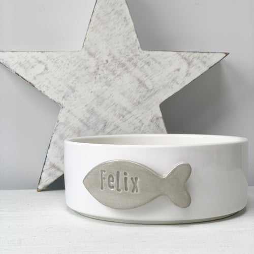 Personalised Cat Bowl - Fabaclay