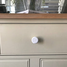 "White Porcelain ""Charming Cottage"" Drawer Knob - Fabaclay"