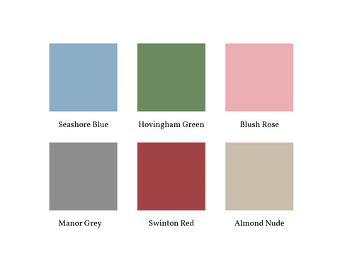 F&B Six Colour Options for Period Homes and Country Living