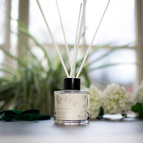 English Pear and Freesia Reed Diffuser from Cosy & Country Available at F&B