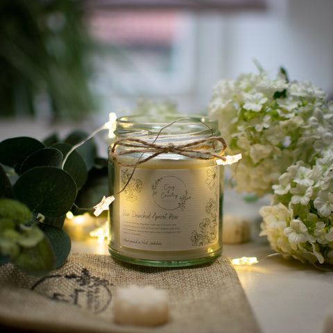 Sun Drenched Apricot Rose Candle From Cosy & Country