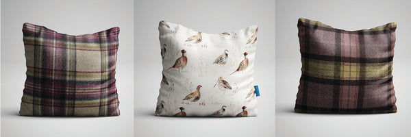 Heather and Gamebirds Cushion Selection - Which Abraham Moon Cushions To Choose
