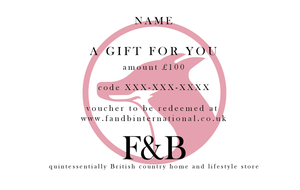 £100 F&B International Gift Vouchers