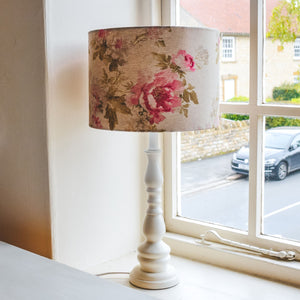 Floral Handmade Lampshade by Beth from F&B - Made in Yorkshire from our Floral linen fabric