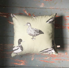 Duck Print Cushion - Country Print - Game Birds - British Birds - Handmade in Yorkshire