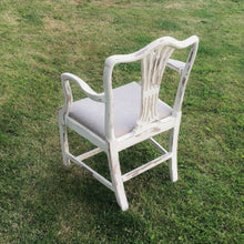 Cream and Taupe Herringbone Chair