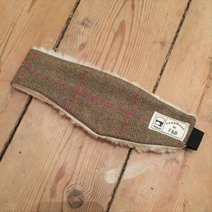 Tweed and Tartan Headwamers handmade in Yorkshire in the UK