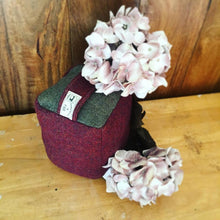 Burgundy and Green - Wine and Green Coloured Tweed Doorstop