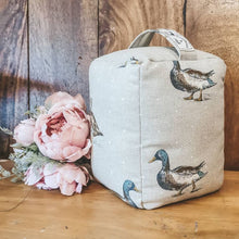 Duck Print Door Stop - Heavy Doorstop for Country and Farmhouse Decor - Handmade in Yorkshire by F&B