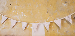 3m of bunting with 10 triangles double sided perfect gifts for birthdays christenings and weddings