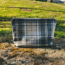 Mustard Check Wash Bag handmade in Yorkshire - F&B