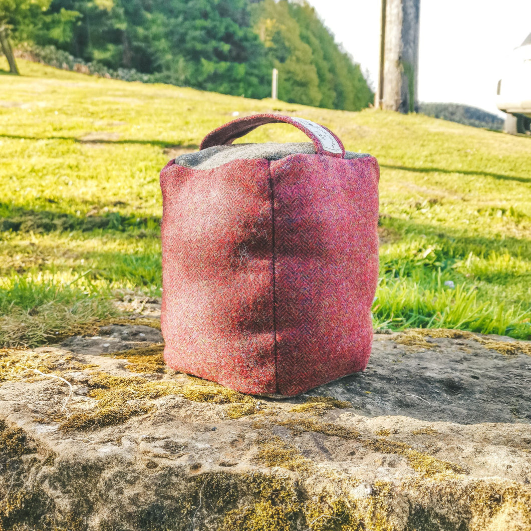 Tweed Doorstops handmade in Yorkshire