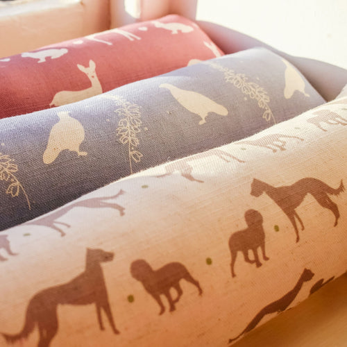 F&B Fabric Draught Excluders available in grouse, deer, working dogs and pheasant print fabrics