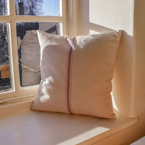 Dot & Stripe Linen Cushion