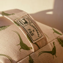 Pheasant Print Door Stop - Fabric Designed by F&B featuring handsome pheasant and ferns