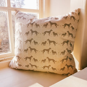 "18"" Duck Feather Lindt & Buck Grey Linen Cushion"