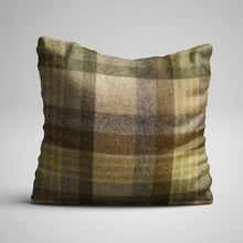 F&B International - Abraham Moon - Tweed Cheltenham Cushion Lichen - Handmade in Yorkshire
