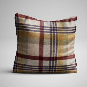 Abraham Moon Melbourne Merlot Cushion - F&B International Handmade in Yorkshire