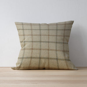 F&B International Handmade Cushion - Balvaird Sand - Abraham Moon - Handmade in Yorkshire