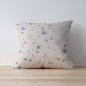 Handmade Blue Star Print Cushion - Designed and Made by F&B international - Country Homeware and Farmhouse style vintage decor