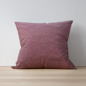 Burgundy Herringbone Tweed Cushion - Handmade Country Home Decor for Country Abodes and Farmhouses - Handmade by F&B in Yorkshire
