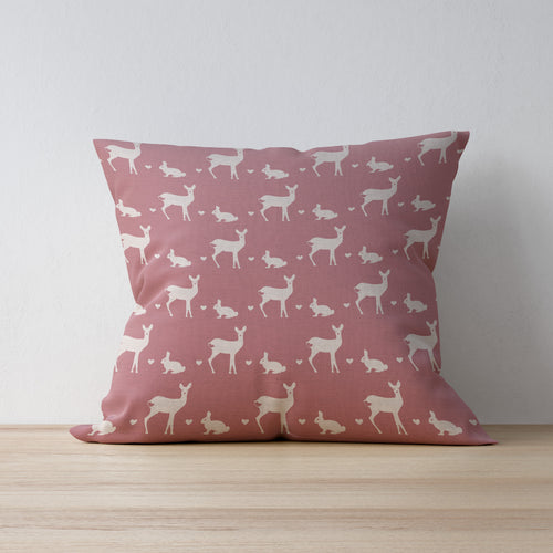 Roe Deer and Rabbit Print Fabric for Childrens Rooms and Nurserys - Available in a range of Colours designed by F&B