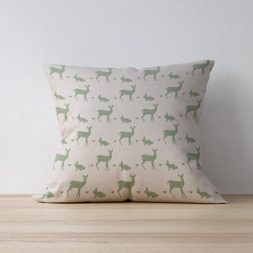 Deer and Rabbit Print Fabric - Country Home Decor - Handmade in Yorkshire by F&B and designed by F&B