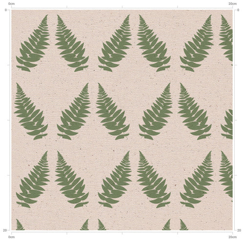 F&B Large Fern Print Fabric - Designed by F&B in period country home colours