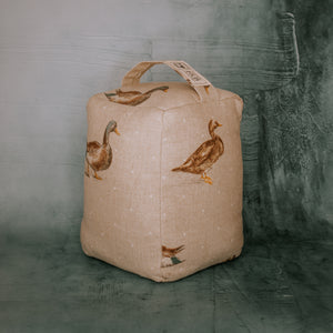 Handmade duck print doorstop - made by F&B in yorkshire - the perfect country home decor