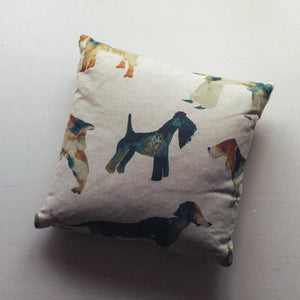 "Sale 14"" Dog Print Duck Feather Cushion"