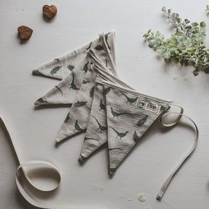 F&B International - Pheasant Bunting Handmade by F&B in Yorkshire - Pheasant and fern print bunting