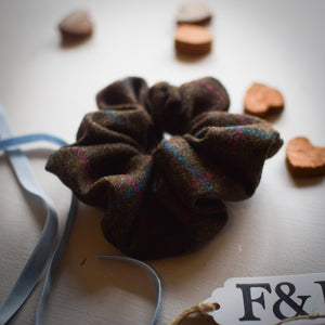 Harrier Tweed Scrunchie Handmade by F&B