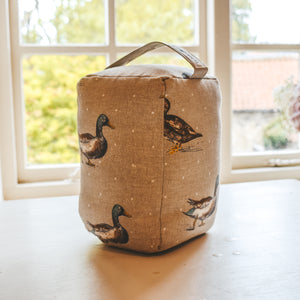 Duck and Polka Dot Print Doorstop - Country Home Decor - Country Cottage Style - Farmhouse Decor