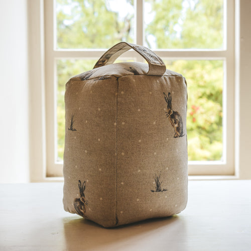 F&B International Country Home Decor Handmade in the UK - Hare and Dot Print Doorstop - Country living - homes essentials