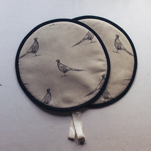 Pen Illustration Pheasant Hob Covers