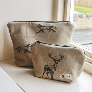Pen Illustration Fox Wash Bag and Make-up Bag
