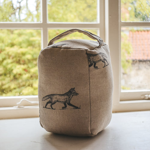 Fox Print Doorstop  Handmade in Yorkshire by F&B - country home decor for cosy homes