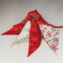 F&B red and gold bunting for country home decor - the perfect christmas decoration handmade in Yorkshire - Christmas Bunting
