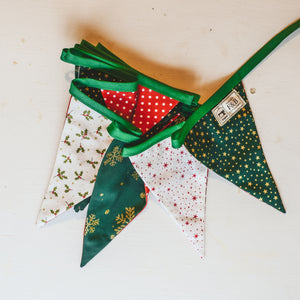 Green and Red Christmas Bunting (3m)