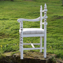 White and Cream Chair - Antique Feel Handmade in Yorkshire - F&B