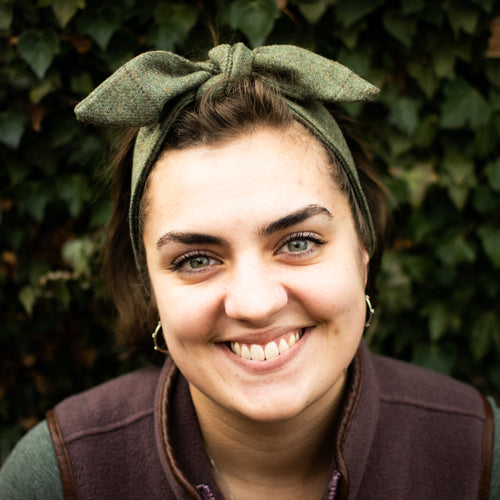 F&B Tweed headband head tie headscarf - harrogate tweed - made in yorkshire - country clothing