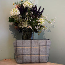 Light Blue Tartan Wash Bag/Make-Up Bag